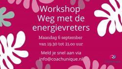 Op 6 september eerste workshop om burn-out te voorkomen